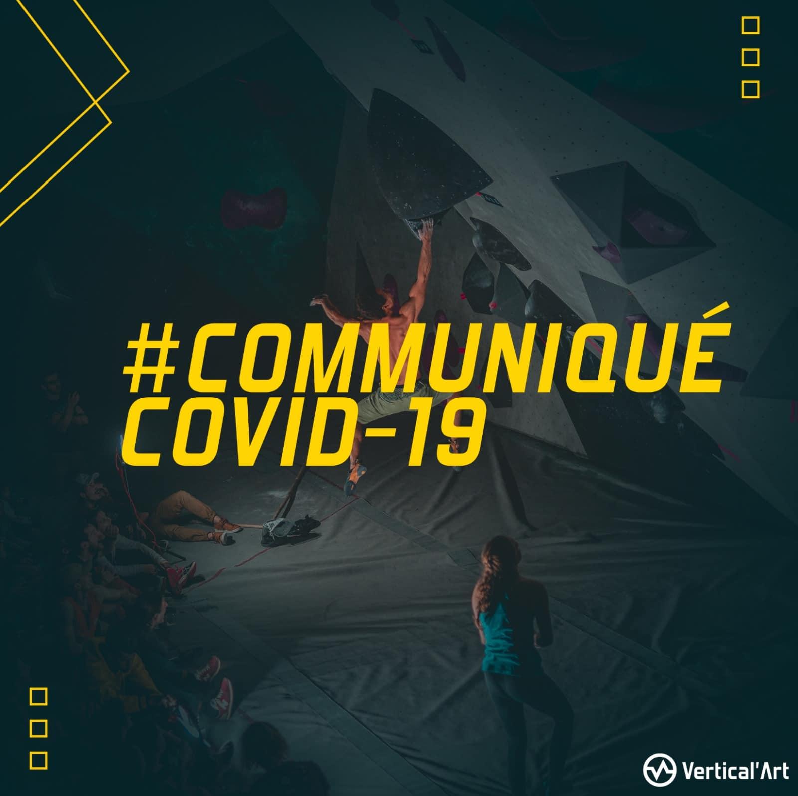 communiqué Covid-19, report de l'inauguration de votre salle d'escalade Vertical'Art Le Mans