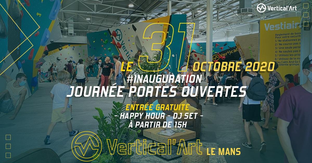 Journée porte ouvert salle d'escalade Vertical'Art La Mans, restaurant et bar, cours d'escalade