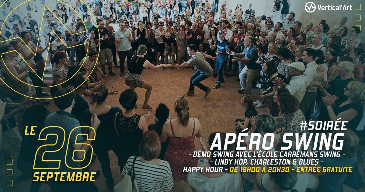Swing Party dimanche 26 à Vertcal'Art Le Mans, démo swing, lindy hop, charleston et blues. Happy hour de 18h à 20h30